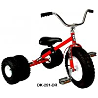 ダート王DK-251-DR子供二重に三輪車、レッド