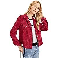 Milumia Women Long Sleeves Crop Jackets Lightweight Button up Outwear Casual Office Biker