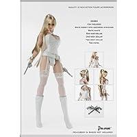 (ピストル付き)ホワイトアンダー ウェアセット 1/6スケール女性用コスチューム. Artcreator_BM 1/6 dollsfigure cc222(new version)