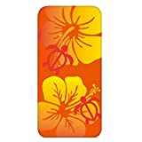 ホワイトナッツ FREETEL SAMURAI MIYABI 雅 FTJ152C ケース クリア ハード プリント パターンA(cw-1306) スリム 薄型 花柄 ハイビスカス WN-PR425913