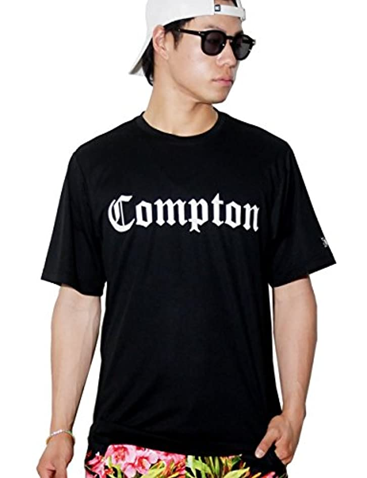 作りジョージバーナード最大化する(ディーオーピー) DOP Tシャツ COMPTON ロゴ 吸水速乾 ドライ dptt081 2カラー