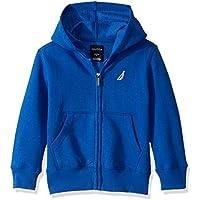 Nautica Boys' Little Fleece Basic Logo Full Zip Hoodie