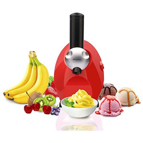 Excelvan フローズンフルーツメーカー スイーツ・デザートメーカー 全く新しい食感のフルーツデザートが作れます!新食感健康に FDM-1301(レッド)