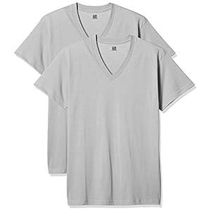(グンゼ) GUNZE インナーシャツ G.T.HAWKINS 速乾VネックTシャツ 2枚組 HK80152 95 グレー L