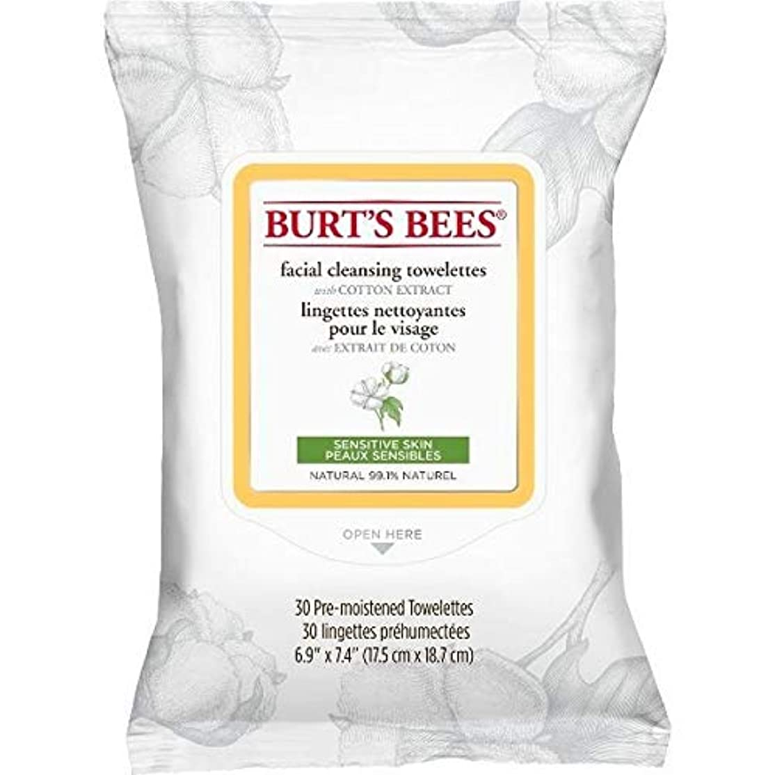 オークランド池エミュレーション[Burt's Bees ] バーツビー敏感な顔の浄化用ペーパータオルエキスX30 - Burt's Bees Sensitive Facial Cleanse Towelettes Extract x30 [並行輸入品]