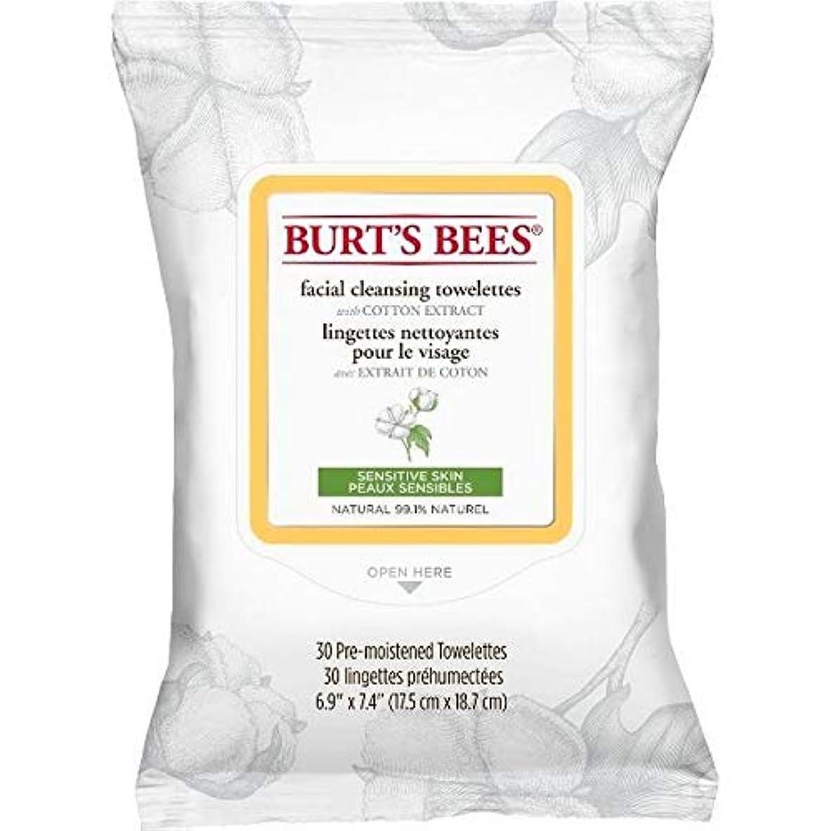 人工ガジュマル同性愛者[Burt's Bees ] バーツビー敏感な顔の浄化用ペーパータオルエキスX30 - Burt's Bees Sensitive Facial Cleanse Towelettes Extract x30 [並行輸入品]