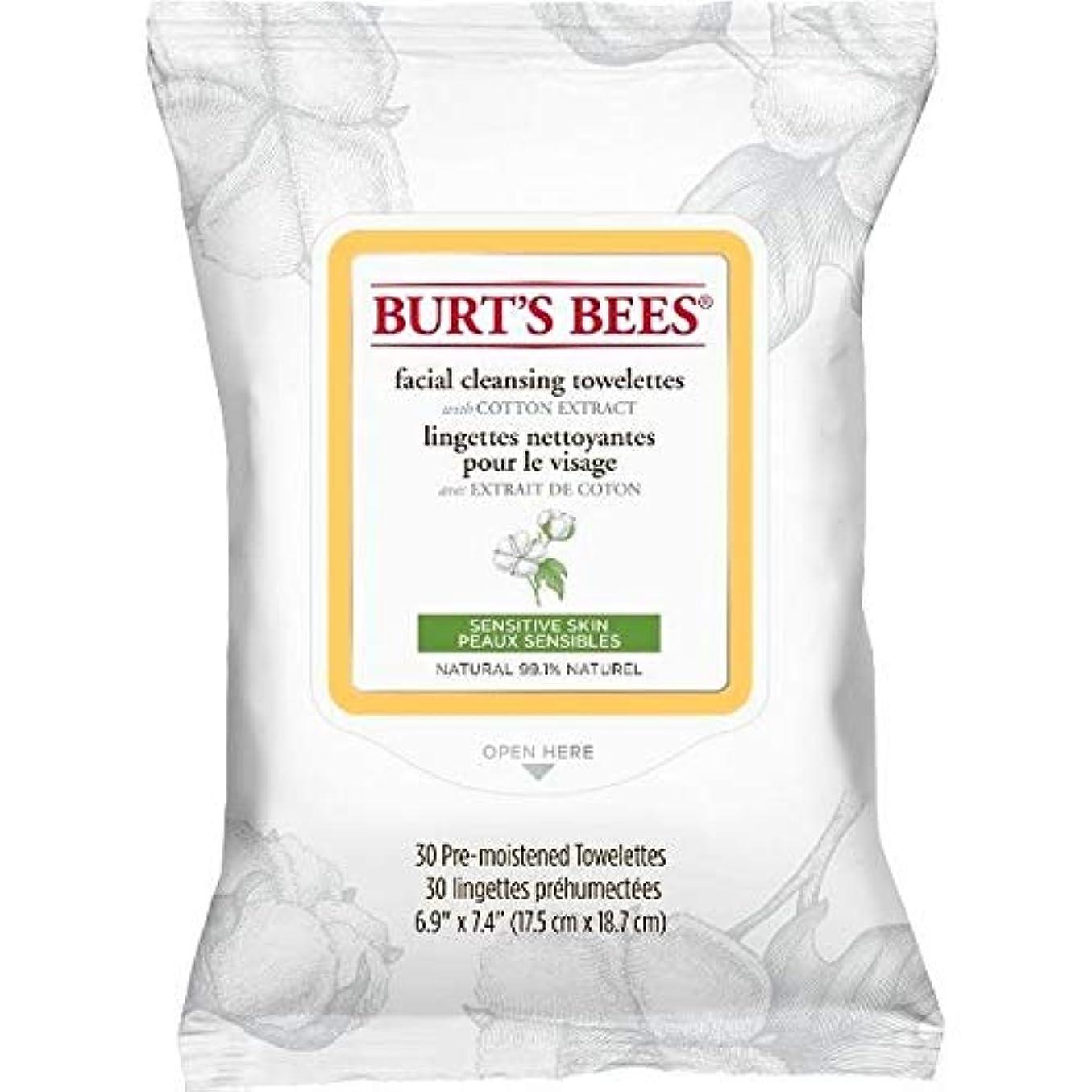 ディスコ階注入する[Burt's Bees ] バーツビー敏感な顔の浄化用ペーパータオルエキスX30 - Burt's Bees Sensitive Facial Cleanse Towelettes Extract x30 [並行輸入品]