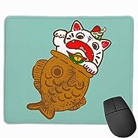 招き猫 たい焼き マウスパッド ゲーミング ゲームオフィス 高級感 おしゃれ 防水 耐久性が良い 滑り止めゴム底 適用 マウスの精密度を上がる