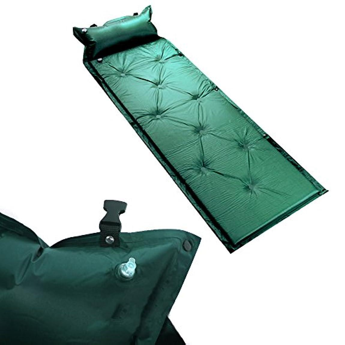 句読点ビルマ推定ZHENDUO 自動的にふくらむエアーマット キャンプマット エアーマット寝袋 軽量 抗菌防湿 車中泊 災害 急な来客 オフィス 公園 花火大会 レジャー