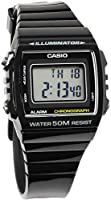 [カシオ]CASIO チプカシ 腕時計 デジタル チープカシオ ランニングウォッチ ストップウォッチ 樹脂ベルト メンズ W-215H-1A ブラック [並行輸入品]