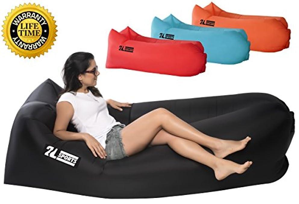 郡第九累計インフレータブルAir Lounger – Perfect for旅行、キャンプ、ビーチ、プール。として使用Air椅子、Hangoutソファ、ソファ、ハンモック、with Carryバッグ。簡単に凸レンズ。