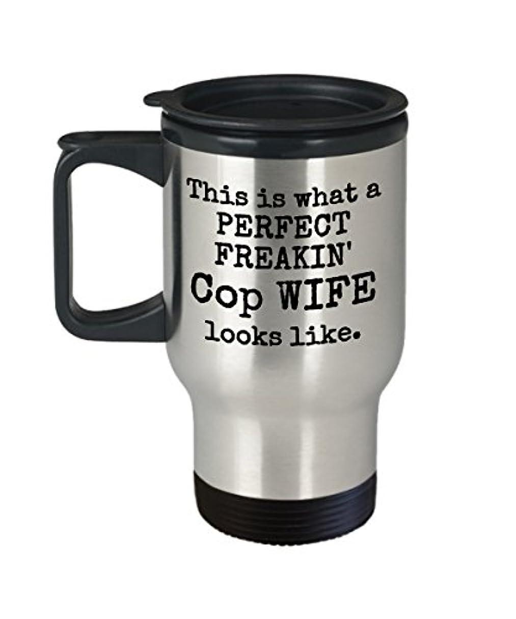 警戒綺麗な合図Cop妻旅行マグ – Perfect Freakin Looks Like – ギフトコーヒーカップ