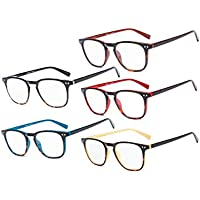 Eyekepper Reading Glasses 5 Pack Mixed Color Vintage Readers Men Women +2.00