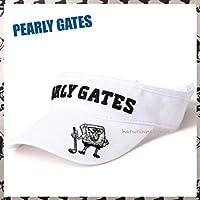 PEARLY GATESパーリーゲイツ スポンジボブSpongeBob コラボ 定番系 サンバイザー 白ホワイト メンズレディース