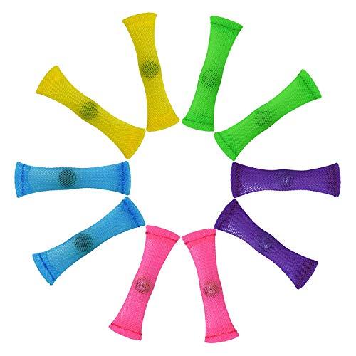 ROHSCE フィジェットおもちゃ (5色10色パッケージ) ストレス解消玩具集中力を高めてストレス解消 大人子供兼用集中力増幅 多動症/欠陥障害/強迫性障害/自閉症支援に
