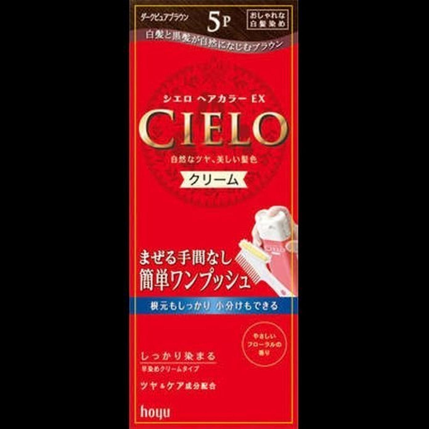 ベール若者変換するシエロ ヘアカラーEXクリーム 5P + ダークピュアブラウン ×2セット