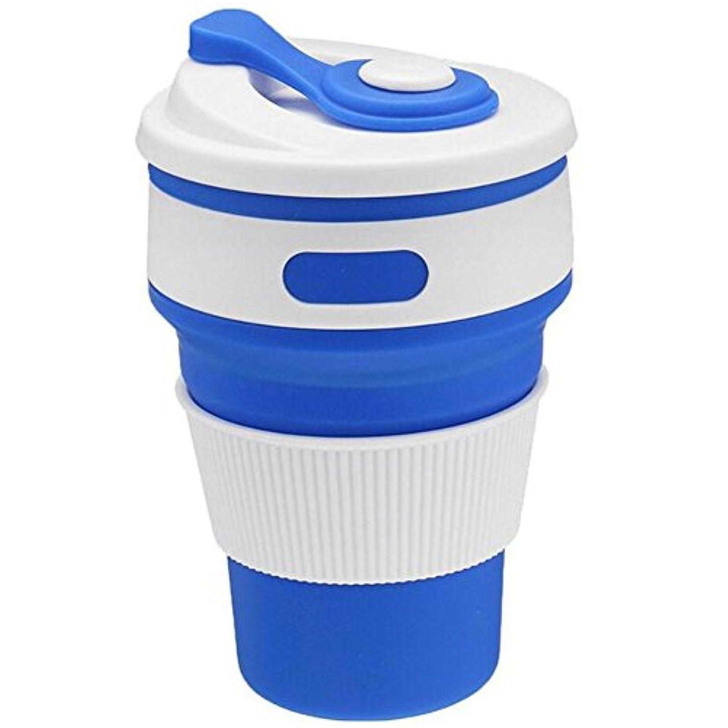 部族毎月池Oral Dentistry折りたたみコップ シリコンコップ コーヒーカップ ポケットカップ エコカップ 伸縮 おしゃれ アウトドア 大容量350ml スポーツ ボトル 蓋付き 6色 旅行