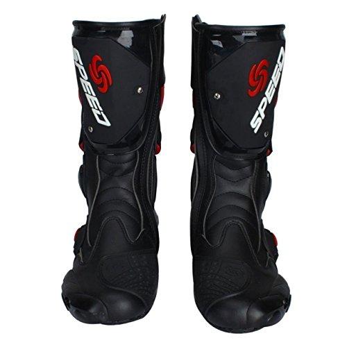 レーシングブーツ バイク用ブーツ メンズオートバイ靴 プロテ...