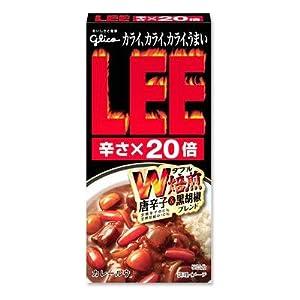 ビーフカレーLEE(リー) W焙煎唐辛子&黒胡椒ブレンド ルウタイプ 辛さ20倍 120g
