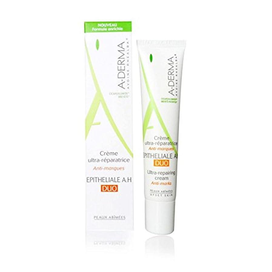 剥ぎ取る論理的に忙しいA-derma Epitheliale A.h. Duo Ultra-repairing Cream 40ml [並行輸入品]
