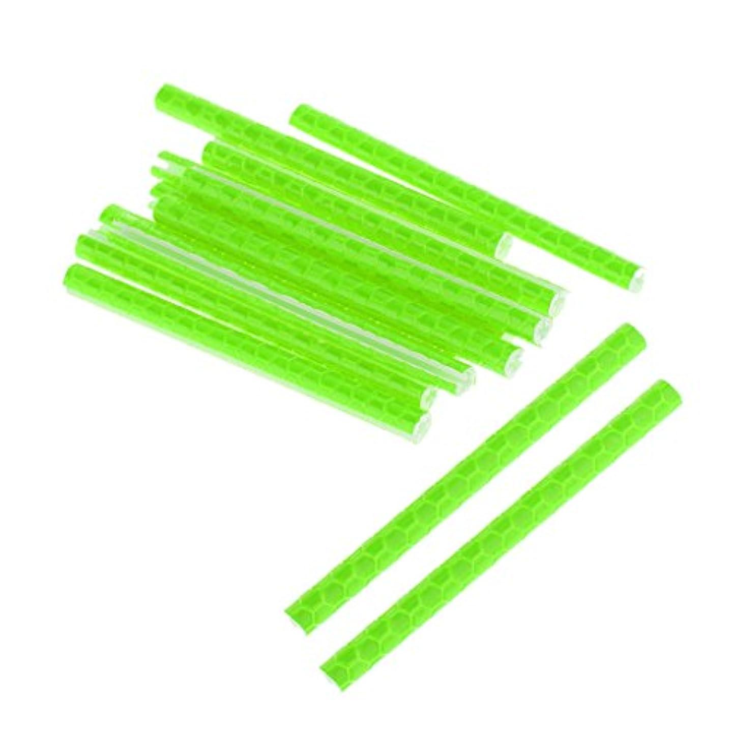 小麦粘土リースDYNWAVE 反射スポーク 反射スティック スポークリフレクター ABSチューブ サイクリング 12本入り グリーン