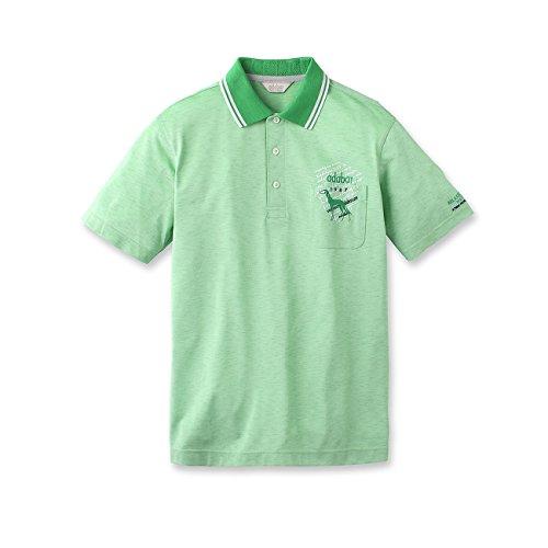 (アダバット) adabat スタンパートカノコ半袖ポロシャツ 08218537 48(L) グリーン(122)