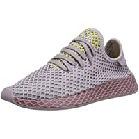 adidas Originals Deerupt Runner W Shoes 5.5 B(M) US Women / 4.5 D(M) US Soft Vision/Trace Maroon/Shock Yellow