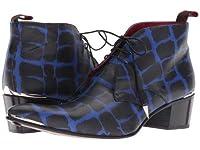 Jeffery-West(ジェフェリーウエスト) メンズ 男性用 シューズ 靴 ブーツ チャッカブーツ Sylvian Spike Lace Chukka Boot - Blue/Black Lunch Croco UK 12 (US Men's 13) M [並行輸入品]