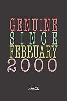 Genuine Since February 2000: Notebook