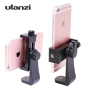 Ulanzi スマートフォンホルダー iPhone用三脚スタンド 三脚・一脚用ネジアダプター 360度回転可能 自撮り棒用 instagram IGTV、垂直ビデオ スタンドクリップ デスクトップ 電話クリップ iphone8plus 撮影