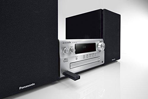 Panasonic CDステレオシステム ハイレゾ音源対応 DLNA/USB-DAC シルバー SC-PMX100-S