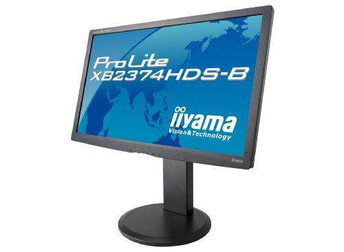 iiyama 23インチワイド液晶ディスプレイ IPSパネル LEDバックライト 昇降・ピボット機能搭載 HDMIケーブル同梱モデル マーベルブラック PLXB2374HDS-B1