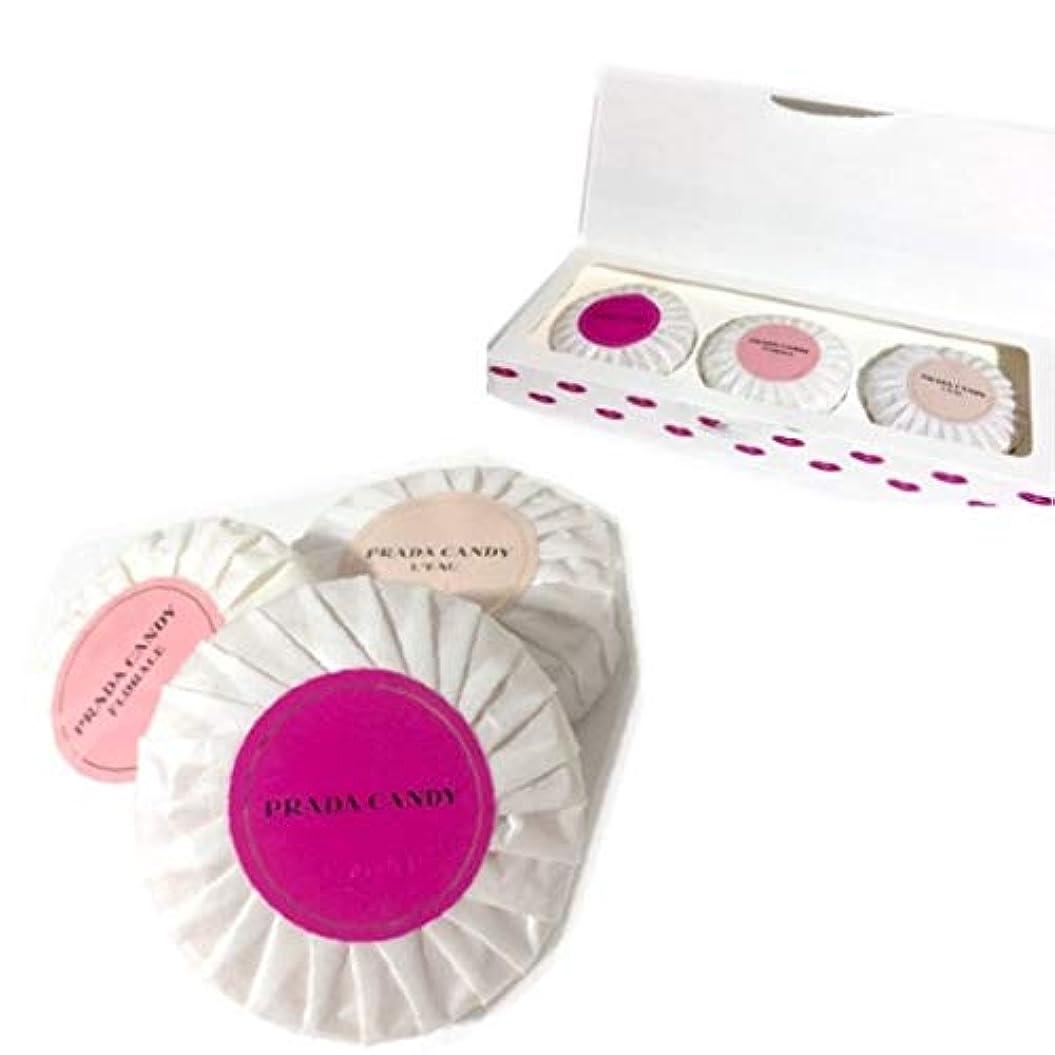 ヒロインビーズ買い物に行くプラダ ソープセット キャンディ フロラーレ ロー 石鹸 ボディソープ 3個セット コフレ PRADA