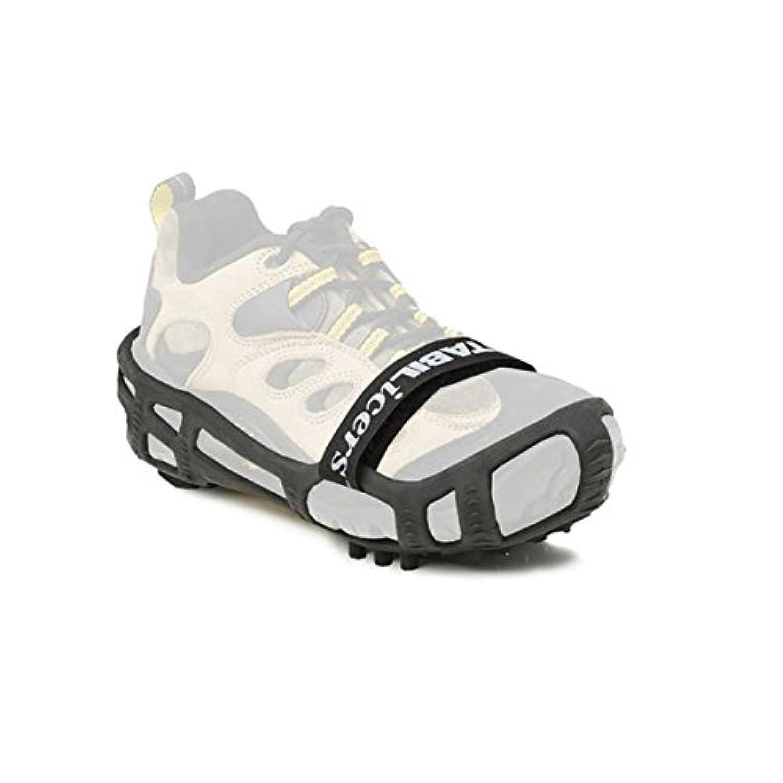 STABILicers Lite Hiker トラクションアイスクリート 鋼製クリート 雪氷雨用トレッド 靴ブーツの上から取り付け 冬の屋外 滑りやすい地形に Large (10.5-13 Mens) ブラック 236218