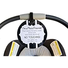 Micro Preemie sign newborn baby car seat tag baby shower gift stroller tag baby Preemie no touching car seat sign …