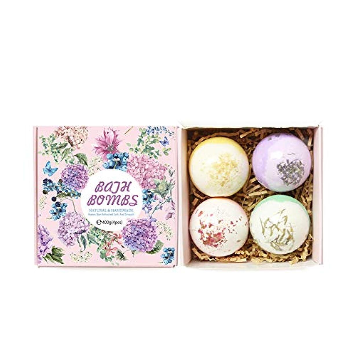 HOT !!! TikTok 泡 入浴剤 セット 4 x 100g さまざまなにおい バレンタインデー 泡ぶろ (ピンク包装 #2)