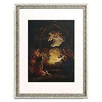 Masucci, Agostino Umkreis,(um1691-1758) 「Adoration of the Shepherds.」 額装アート作品