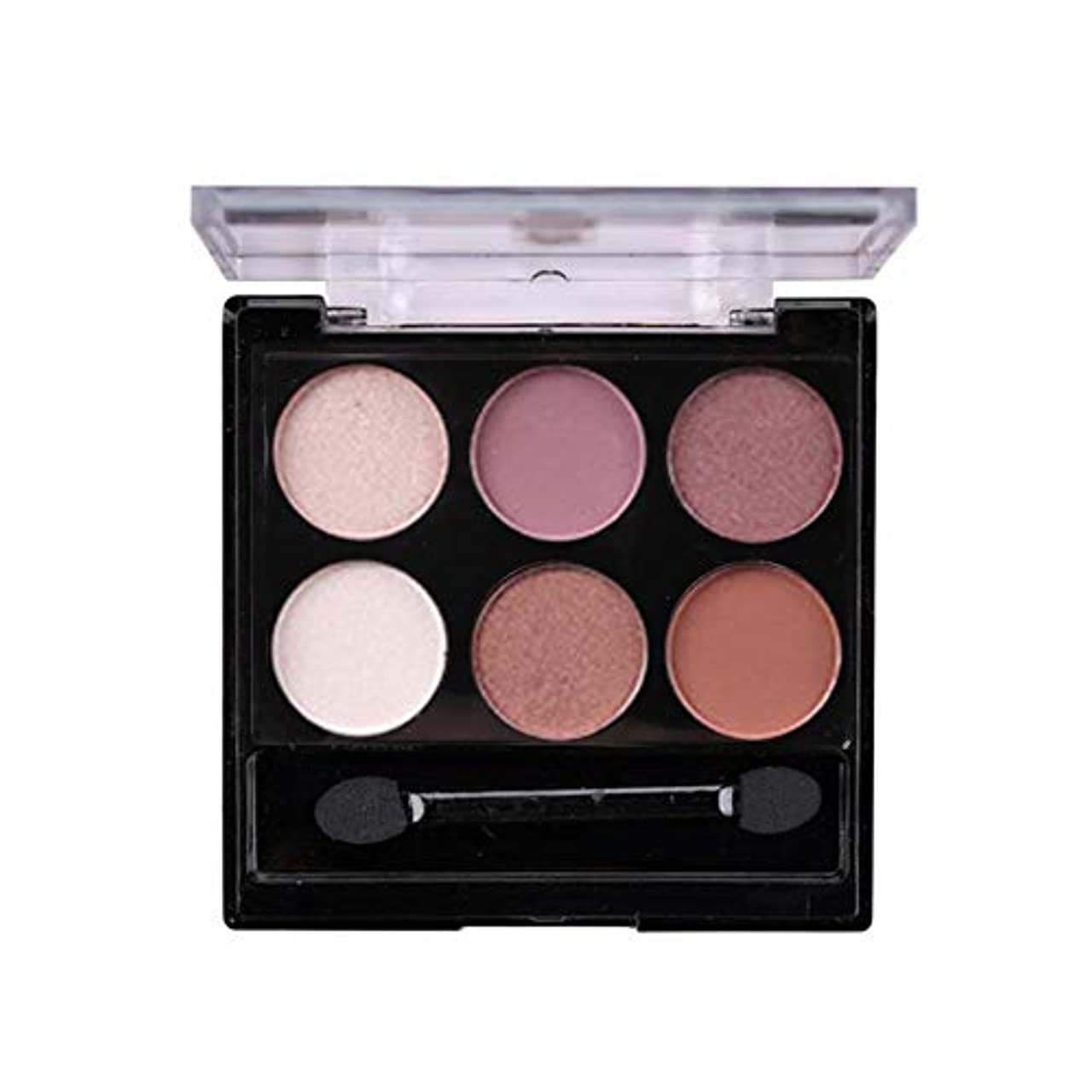 唇競争適合sunyueydeng アイシャドウ, 美容6色つや消し真珠混色アイシャドウプロフェッショナルメイクアイシャドウアイシャドウパレット(2#)
