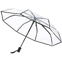 三段折りたたみ傘 透明な傘 ビニール 自動開閉 8本骨 大きい 梅雨対策 耐風撥水 おしゃれ ビジネス メンズ レディース 透明傘 折れない傘 丈夫