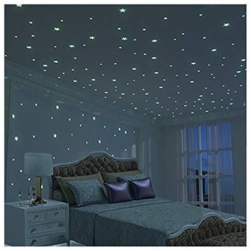 夜光ステッカー (約326枚)ほし 蓄光シール 蛍光 星形 子供部屋/ベッドルーム/バスルーム/玄関/客間