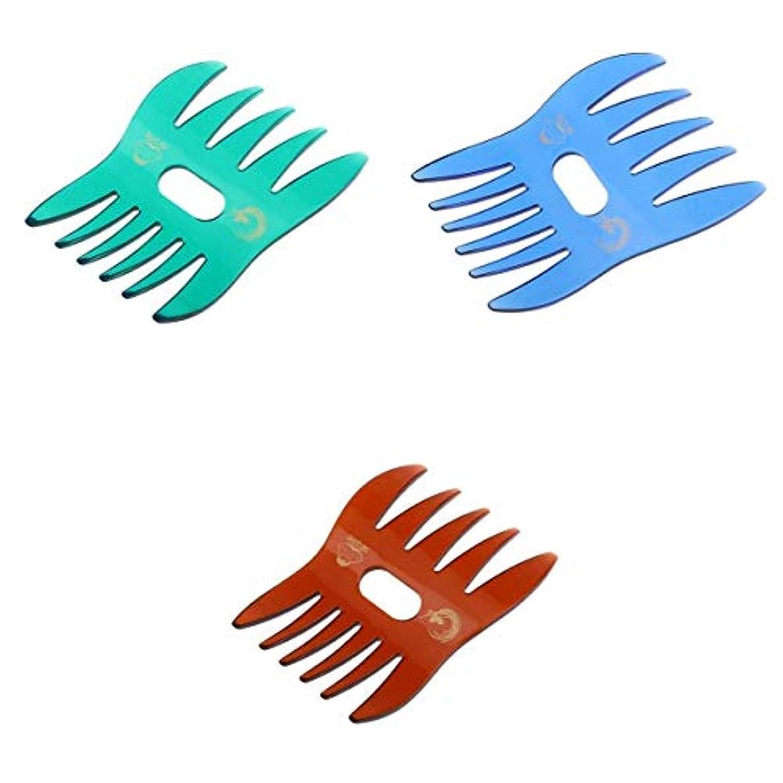納得させる唯物論近くInjoyo 3×デュアルサイドメンズオイルヘアコームサロン理髪スタイリング大きなワイド歯