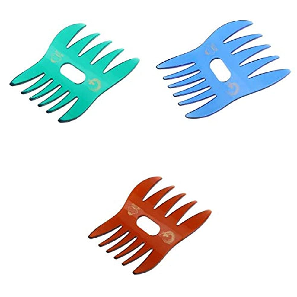 配分ステップ油櫛 ヘアコーム コーム ヘア櫛 静電気防止 粗歯 頭皮マッサージ オイルヘアスタイル
