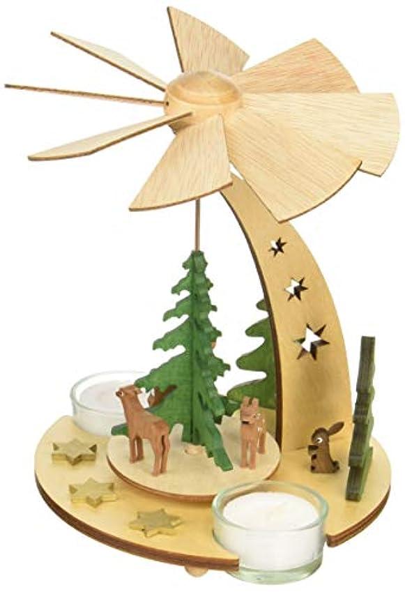 側夕暮れ繁栄するkuhnert クリスマスピラミッド 森の動物