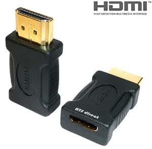 ATS direct ミニHDMI(C)メス/HDMI(A)オス 変換アダプタ 【A0022b】
