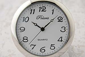 はっきり見やすい◎アラビア数字懐中時計 アラビア数字×シルバー