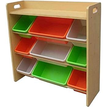 おもちゃ箱 ラック 天板付 キャロット 幅86.2×奥行28×高さ79.5cm