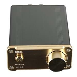 SMSL SA-50 デジタルアンプ 50Wx2 T-AMP 高品質HIFI (ゴールド)