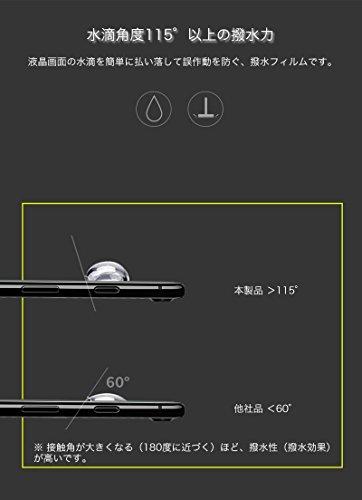 Galaxy S8 ガラスフィルム 全面保護 強化ガラス 9H硬度 耐衝撃 指紋防止 超撥水 SC-02J / SCV36 / SC-03J / SCV35 曲面成形で端までガード 液晶保護フィルム (ブルー)