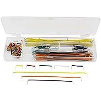 uxcell ジャンプ線 ジャンパー ケーブル線  Kit w Box  ボード用 140個