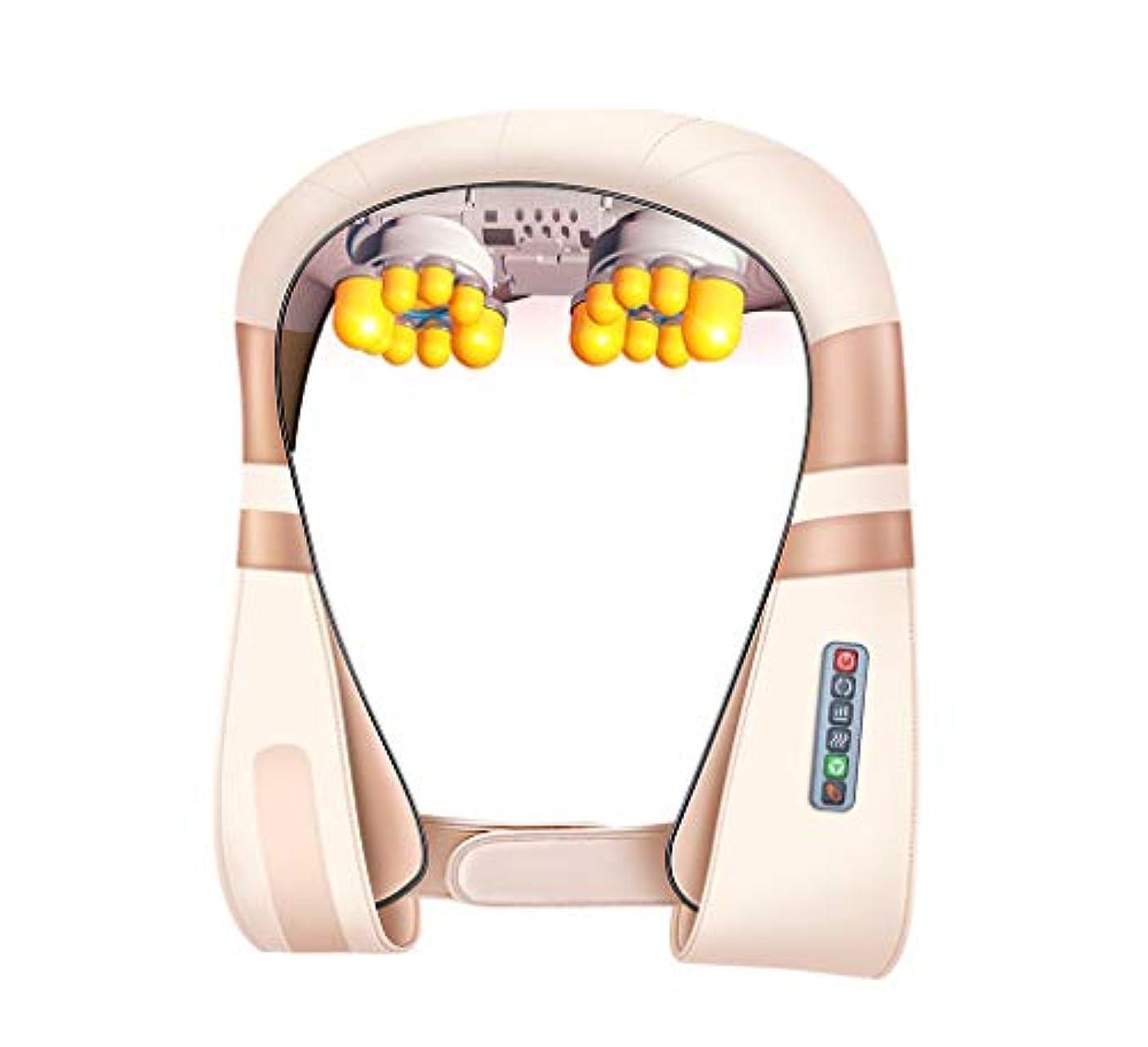 マニフェストリフトナチュラ多機能8d ショルダーマッサージ, 車/ホームネック, 肩, ウエスト, 脚, 腕, 腹部電気マッサージ頸部温水ショール, 新しいアップグレード